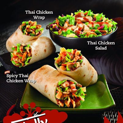 Thai Chicken Wraps and Salad at Tropical Smoothie Cafe ...