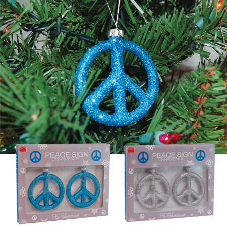 Peace Sign Ornaments at Just Act Natural