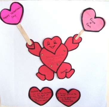 dancing valentine making table