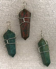 Bloodstone wire wraps