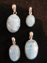 Aquamarine pendants