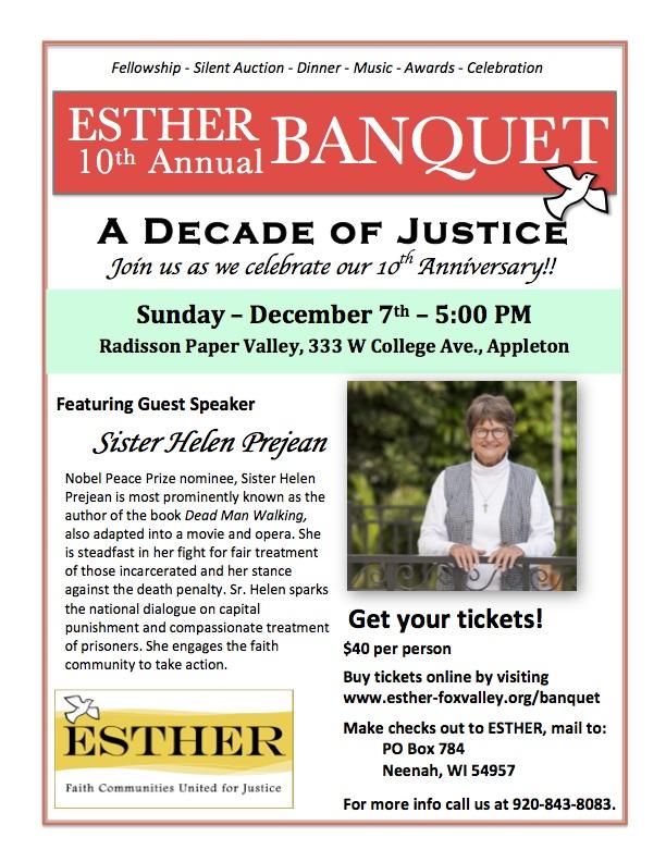 ESTHER Banquet Flyer 2014