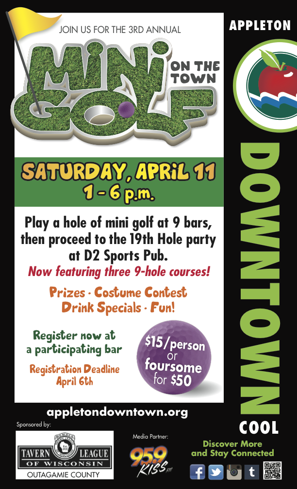 AD1444 Mini Golf Poster