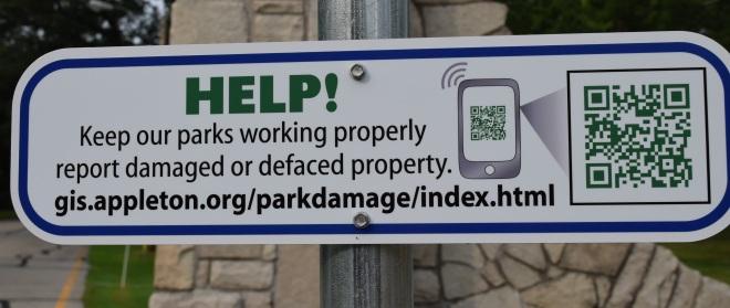 Park app sign photo