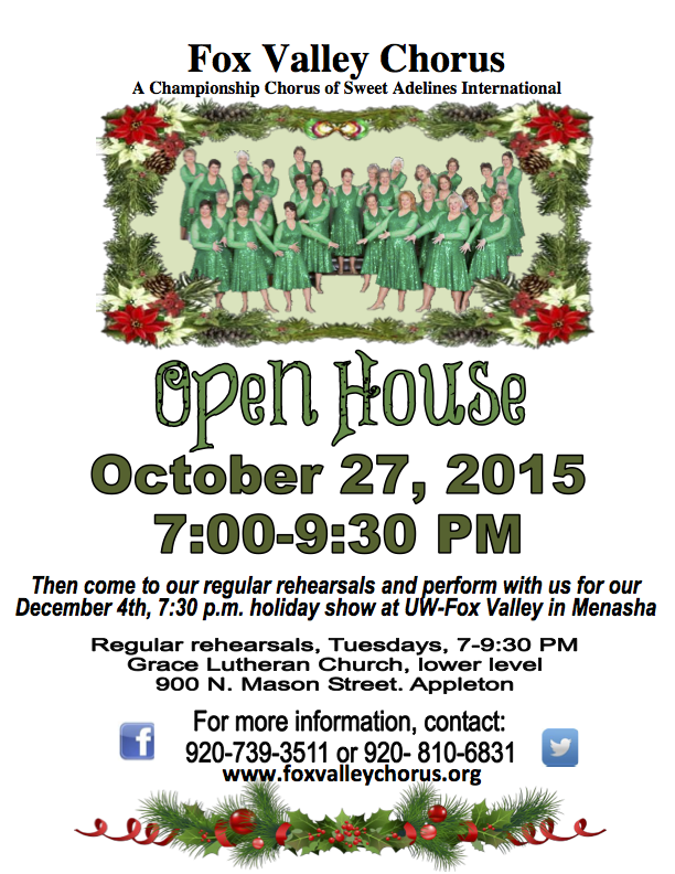 POSTER FOR OPEN HOUSE 10-27-15